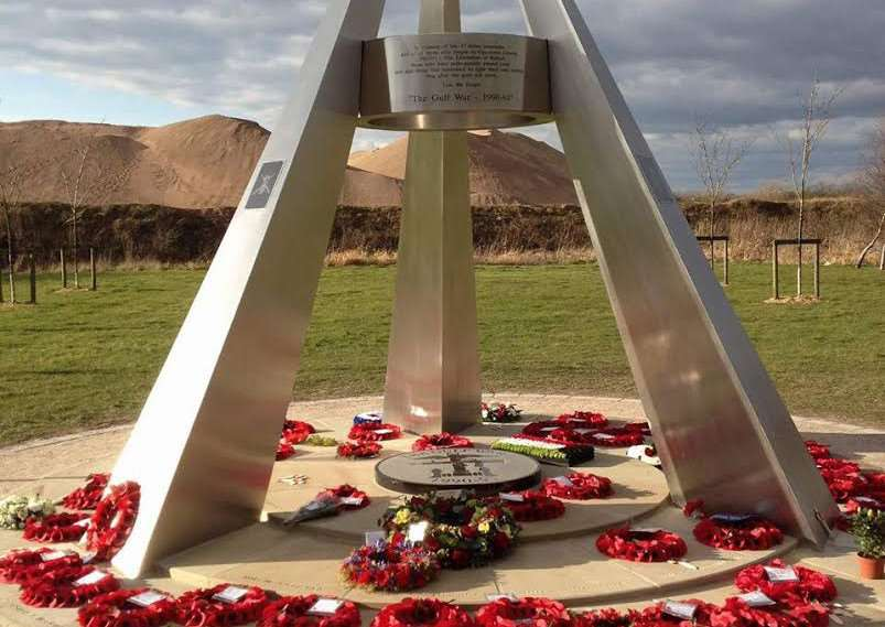 The Gulf War memorial at the National Memorial Arboretum in Staffordshire.