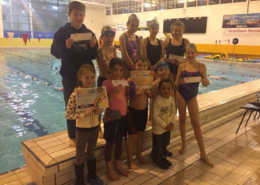 Grantham Swim School youngsters.