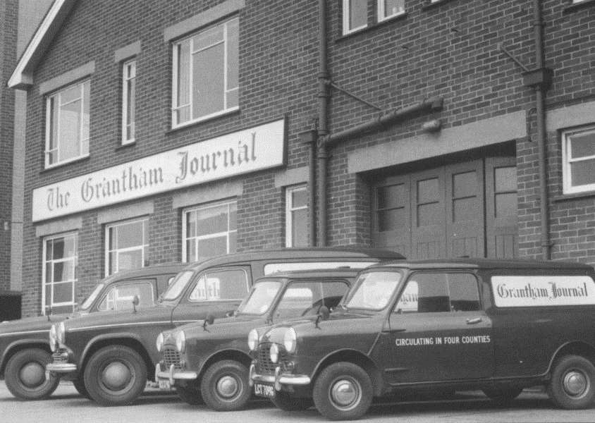 A fleet of vans was needed to distribute the Journal when it was still printed in-house.