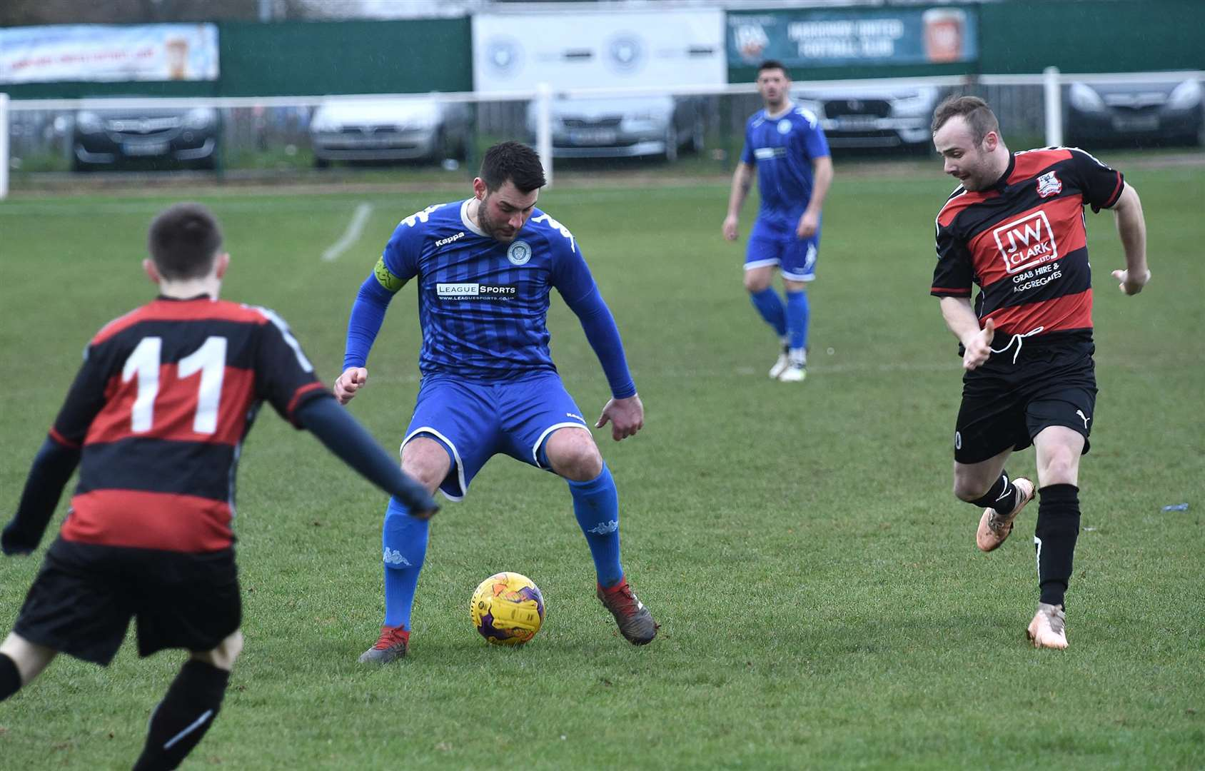 Danny Brooks on the ball for Harrowby United on Saturday. Photo: Toby Roberts (6548250)