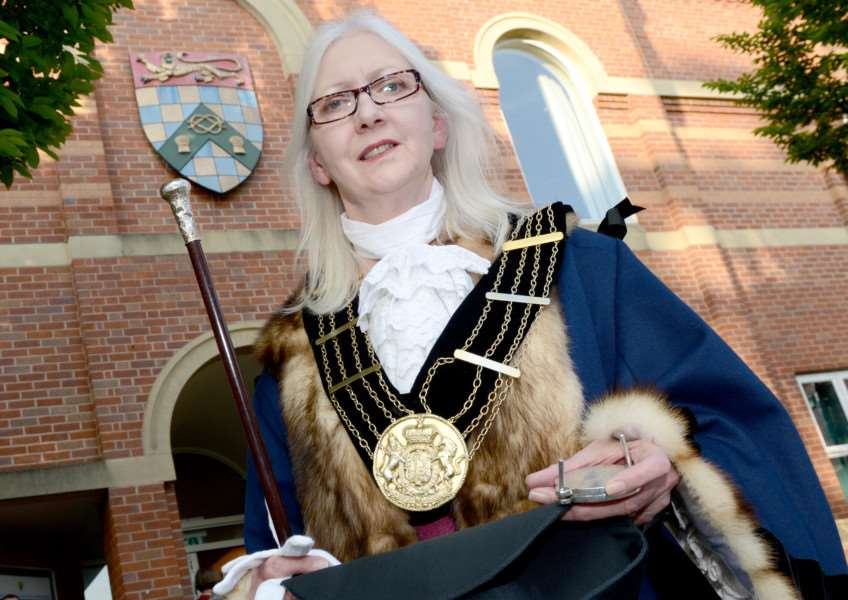 Coun Linda Wootten is the new Mayor of Grantham. Photo: Toby Roberts