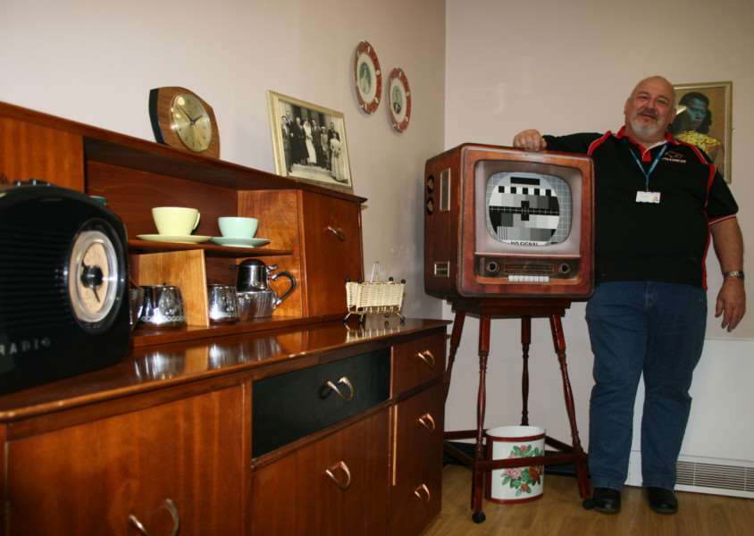 The memory room comes complete with period furniture, artwork and a replica 1950s television, designed and built by Trust volunteer Ron Rouse.