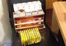 Illegal cigarettes and tobacco.