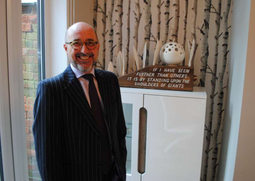 Andrew Hodgson is the new chairman of Grantham Business Club.