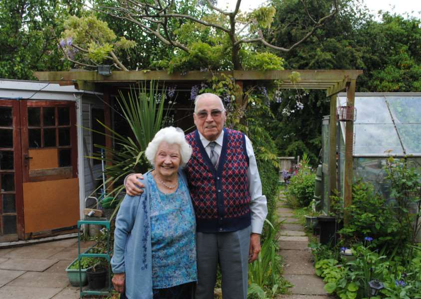 Patricia and Maurice Whincup in their beloved garden.