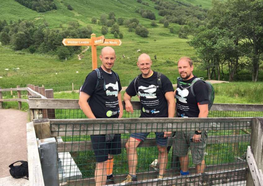 Brothers Ryan and Daniel Lewis and friend James Holbrook completed the Three Peaks Challenge within 24hours.