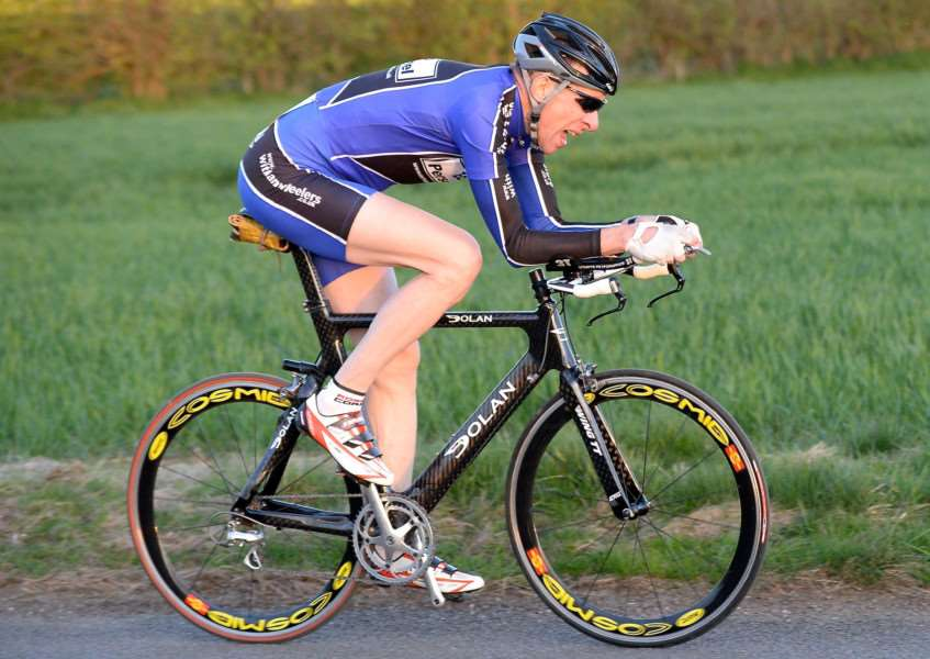 Witham Wheelers time trialing stalwart Dave Strickson. Photo: Alan East