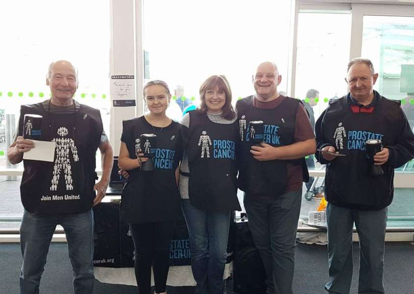 Electric Jive dance class members collect money for Prostate Cancer UK.