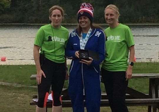 Catherine Davies was the first female winner of the Amphibian Open Water Challenge.