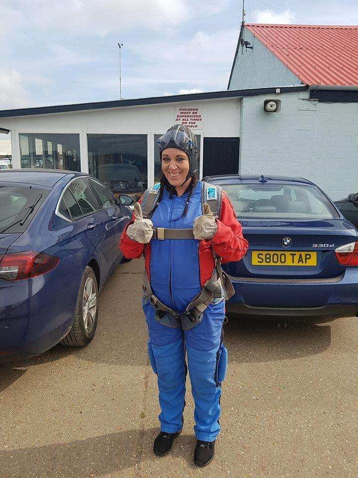 Clare Goodband on the day she did her skydive. (2225449)