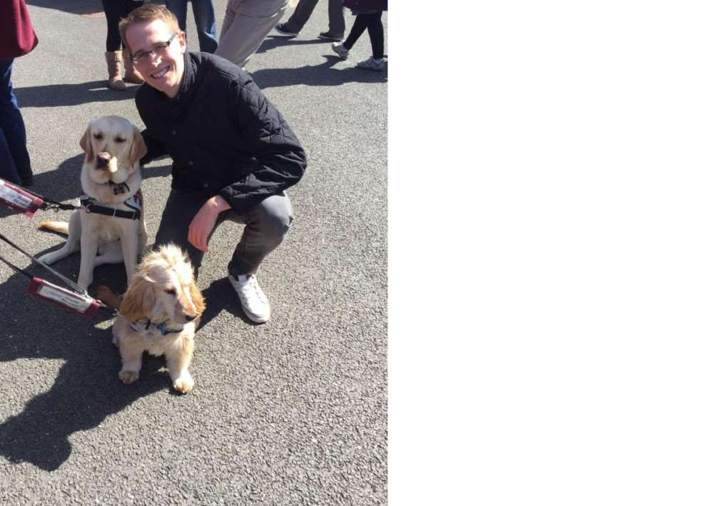 Brian Giddens is running the London Marathon in aid of Hearing Dogs for Deaf People.