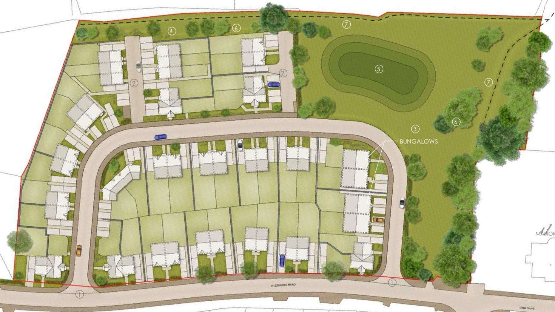 Design of the proposed development in Great Gonerby. (8595749)