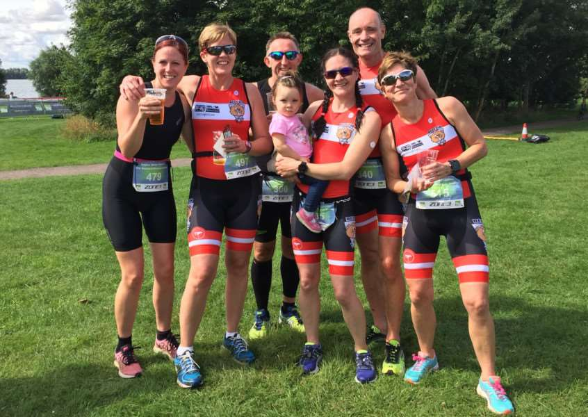 Belvoir Tri Club at Grafham Water Park.