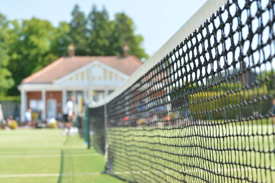 Inter station tennis tournament at RAF Halton tennis club