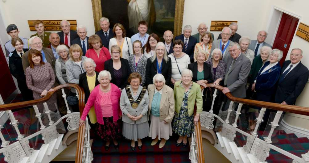 Mayor of Grantham Jacky Smith with her guests at the Mayor's presentation evening.