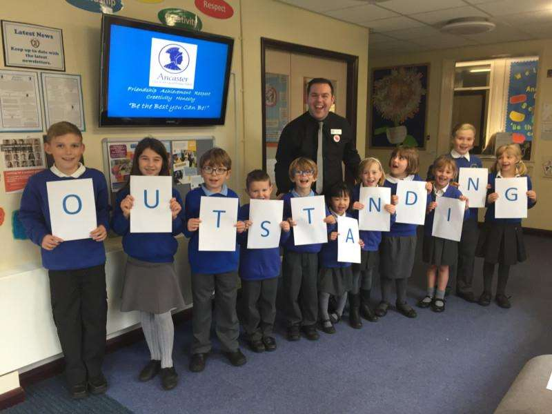 Ancaster Church of England Primary School is in the top five per cent for phonics and celebrated its 'outstanding' church schools' report. in November.