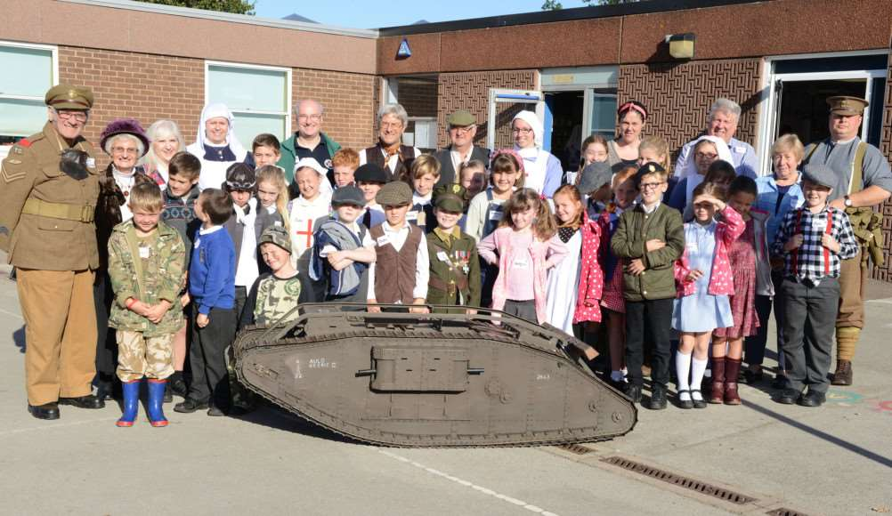 Pupils at Bottesford Church of England Primary School enjoying their WW1 Activities Day.