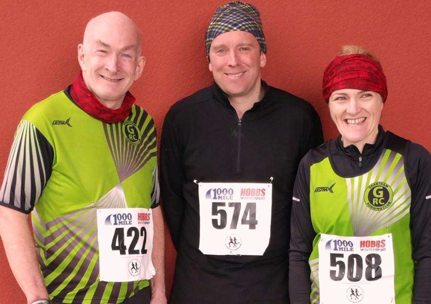 Pictured from left are Robert McArdle, Paul Rushworth and Catherine Payne.