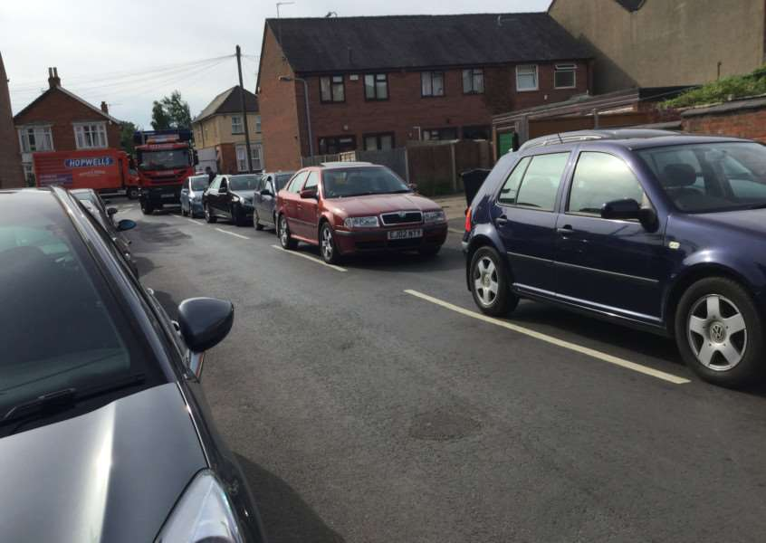 A resident took this picture of traffic queuing to get into the recycling centre on Alexandra Rosad in Grantham. A refuse lorry can be seen at the end of the queue turning into Alexandra Road from Harlaxton Road.
