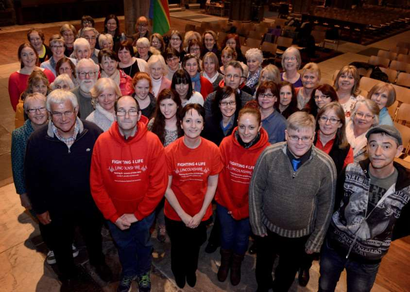 Fighting 4 Life Lincolnshire holds an NHStival choir practice at St Wulfram's Church.