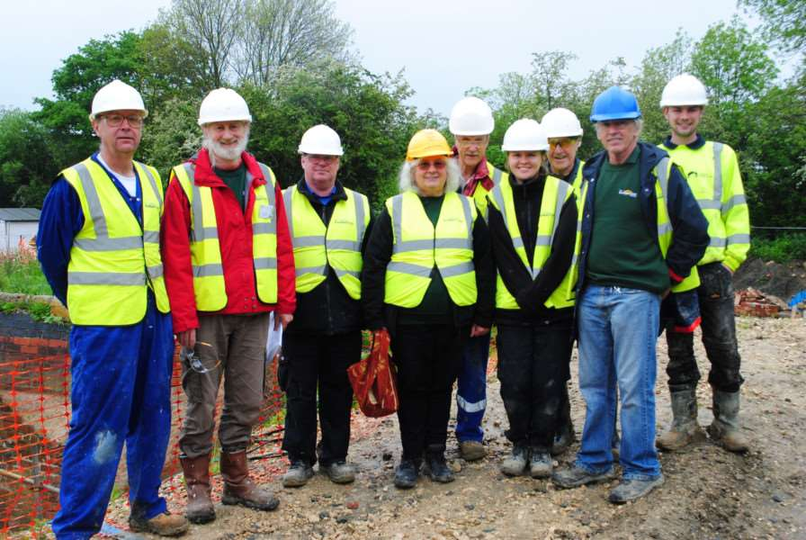 Group effort: members of the Grantham canal and restoration society have been helping restore the locks since 2015.