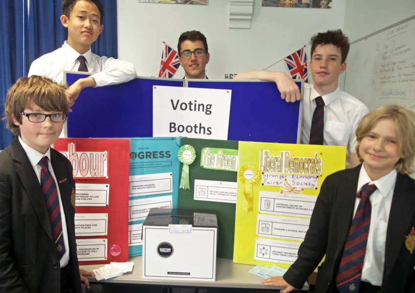 King's School students took part in a mock election ahead of the General Election on June 8.