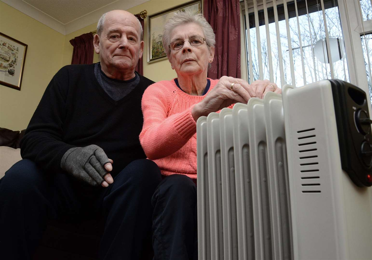 David and Kath Gadd had been without heating and hot water since before Christmas. (7062489)