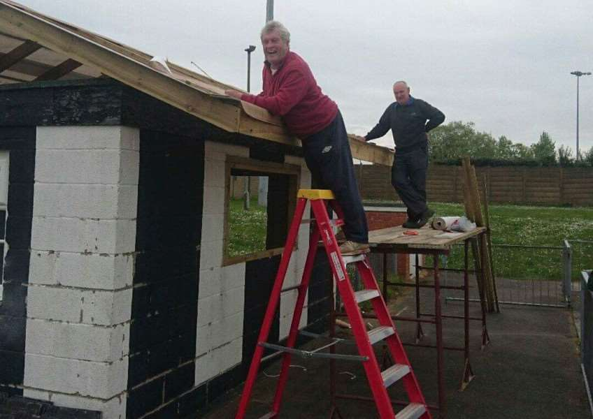 The community rallied around to help restore the new tea hut.