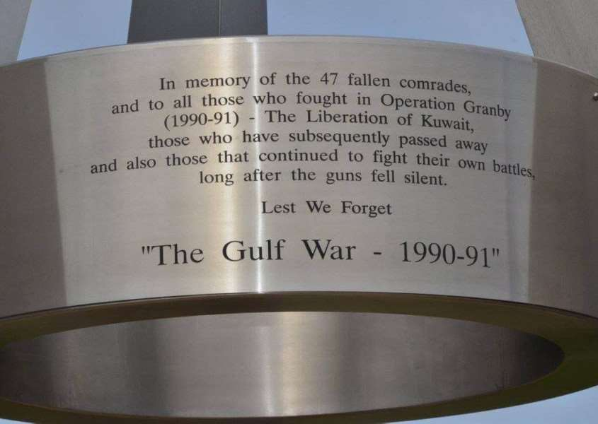 The Gulf War (90-91) Memorial Trust decided upon this fitting epitaph.