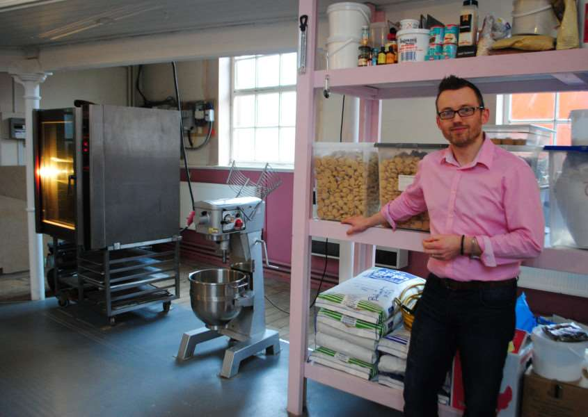 Alastair Hawken at the home of Grantham Gingerbread in the former Citadel in London Road.