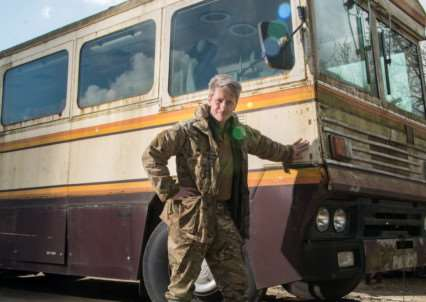 Current owner Nick Mead pictured with the bombproof bus used by Margaret Thatcher during her 1983 election campaign which has been put up for sale for �25,000.