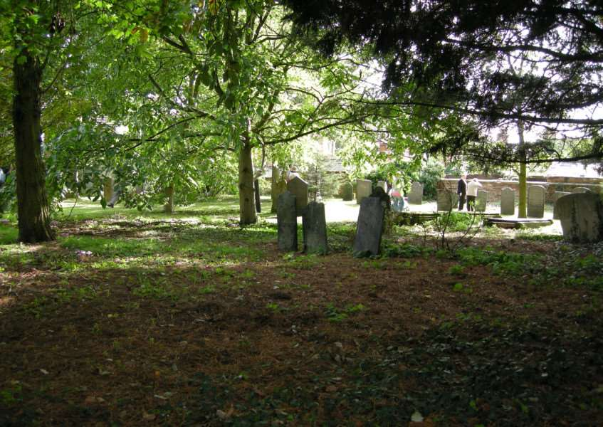 The graveyard at Little Gonerby.