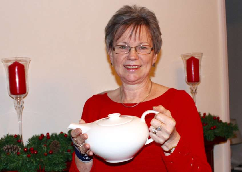 Sue Rowsell won the A&E poetry competition and won a Wedgwood teapot.