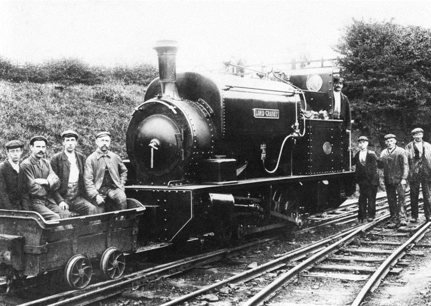 The Lord Granby locomotive working during the thriving era of iron ore quarrying at Eastwell EMN-150515-211739001