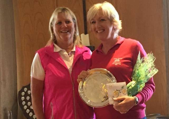 Belton Woods' Gaynor Daykin with the Past Captains' Competition trophy at Laceby Manor.