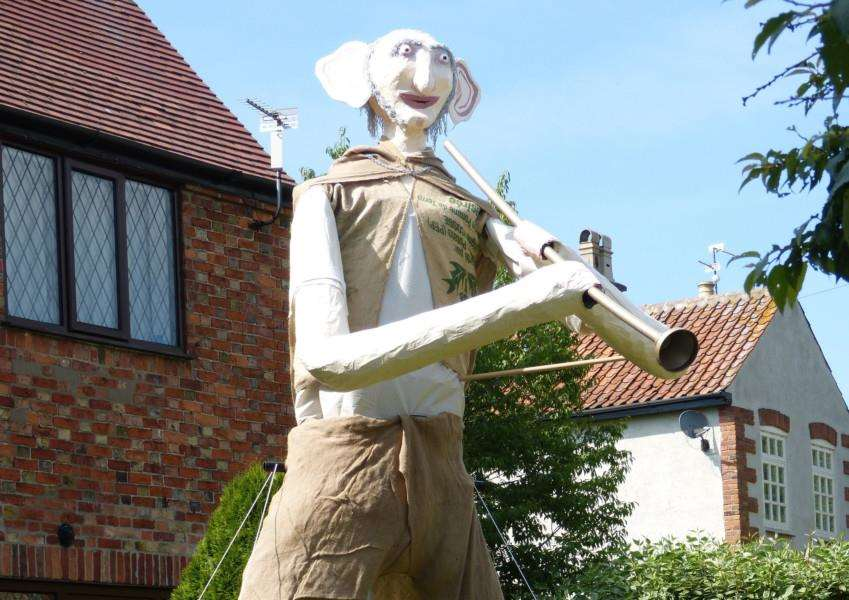 The BFG scarecrow which won the Allington competition.