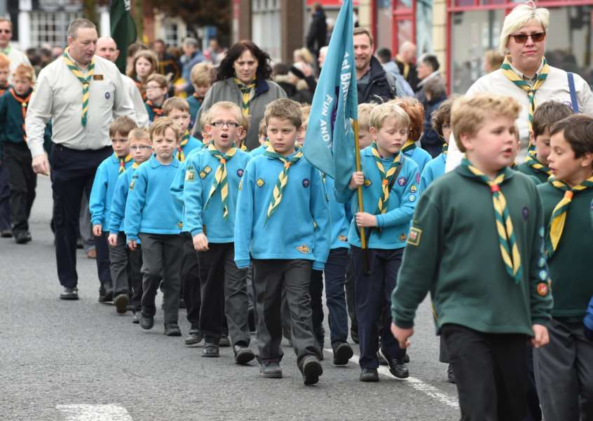 This year's St George's Day scout parade.