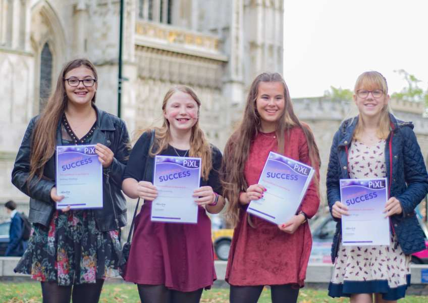 Walton Girls' students proudly collected the award in London.