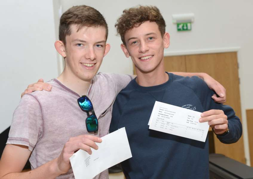 A levels, Priory Ruskin Academy: Adam Egner and Elliott Derby (AS levels)