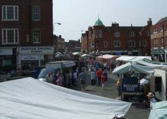 Grantham Market when it was buzzing.