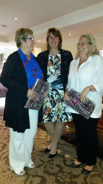 Belton Woods ladies' captain Jackie Wilson with Pat Haynes and Elaine Faithorn.