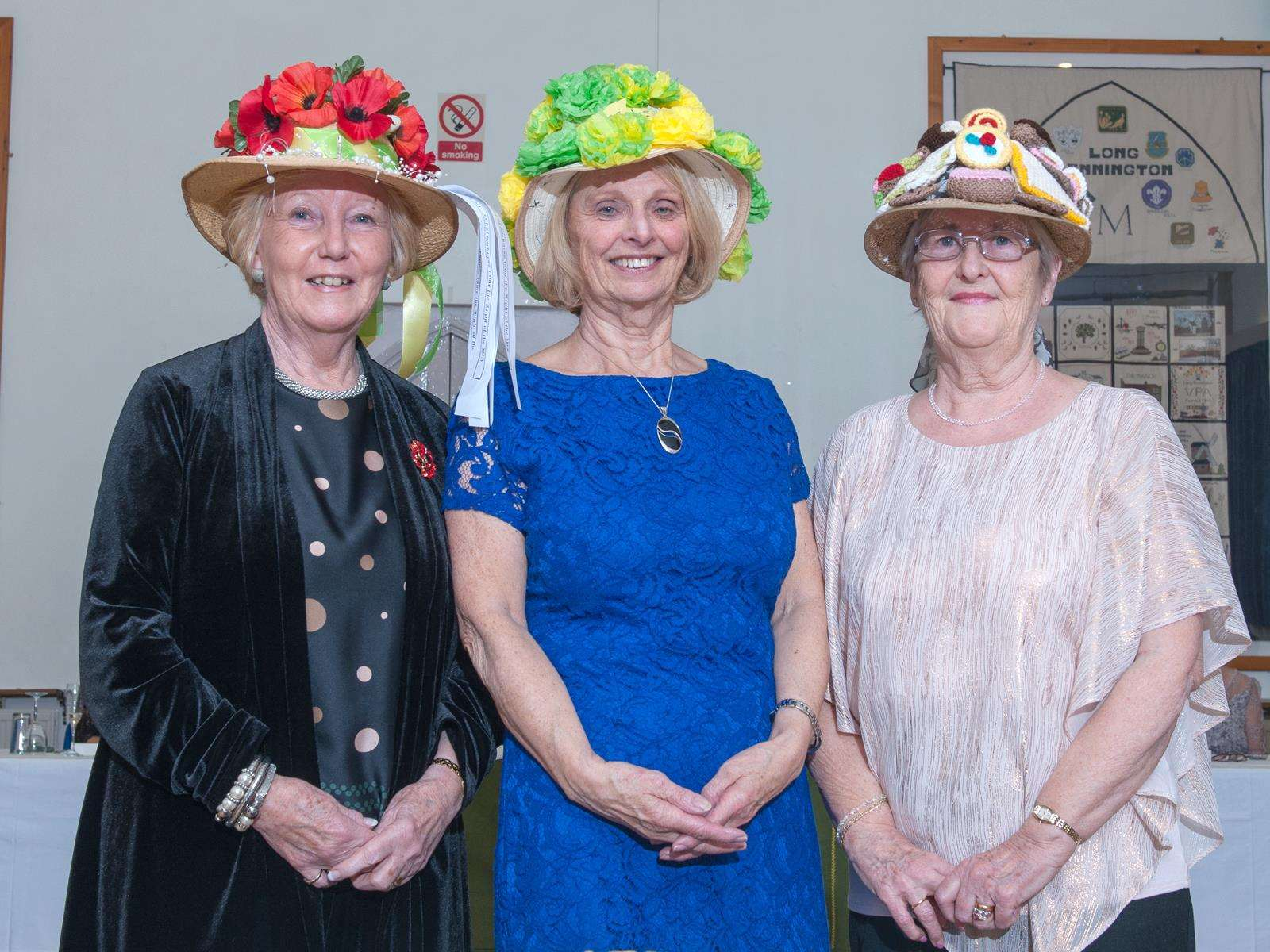 Competition Winners At Long Bennington WIs 100th Birthday Party Left To Right Are Patricia