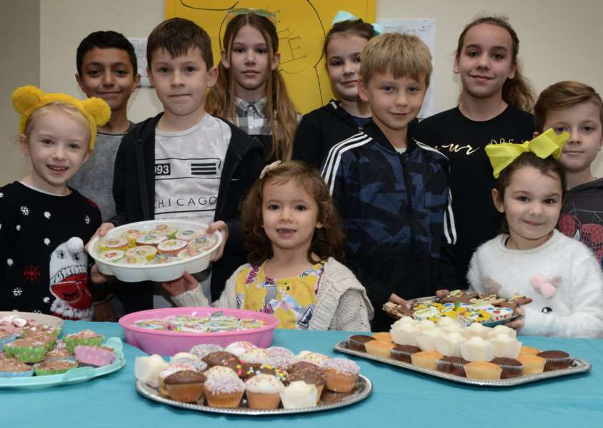 Pupils at Belton Lane Primary School held a bake sale to raise �300