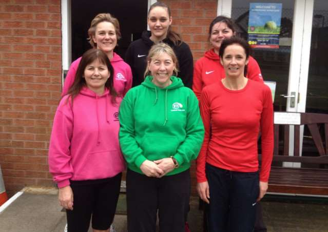 GTC ladies' first team, from left, back - Sophie Fletcher, Megan Jones and Sarah Patton; front - Mel Bloodworth, Lianne Tapson and Sally Walker.
