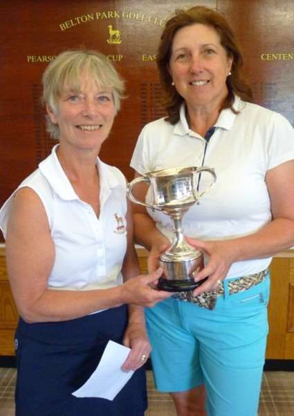 Belton Park lady captain Sue Hall, left, with ladies' club champion Anna Clarke.