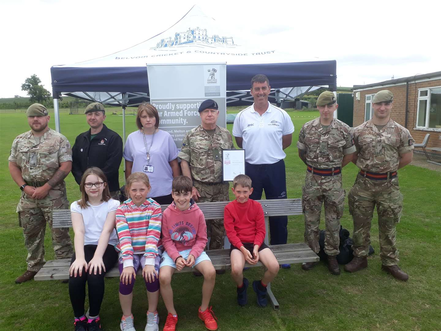 The Cricket and Countryside Trust have joined forces with the army. (14826601)