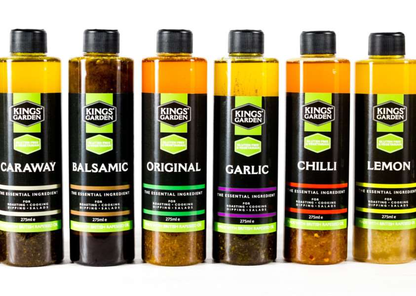 Kings Garden created eight blends of rapeseed oil with herbs and spices.