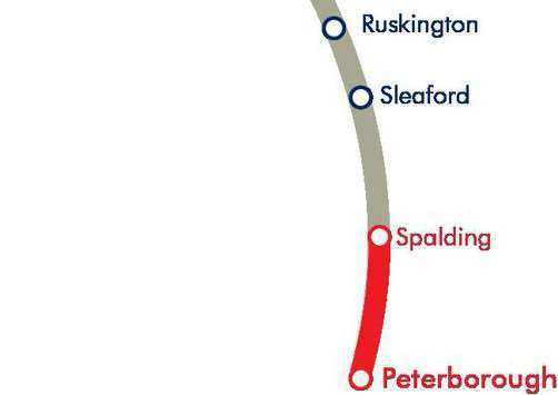 Trains are not running currently between Sleaford and Peterborough