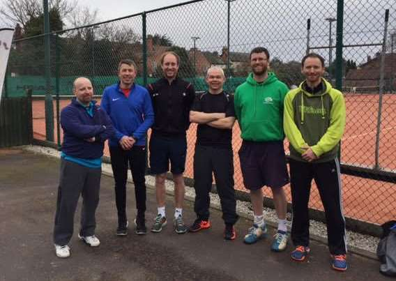 Grantham Tennis Club men's first team are, from left ' Alex Cobb, Paul White, Darren Taxis, James Drennan, Jon Cummins and Alex Vianu.