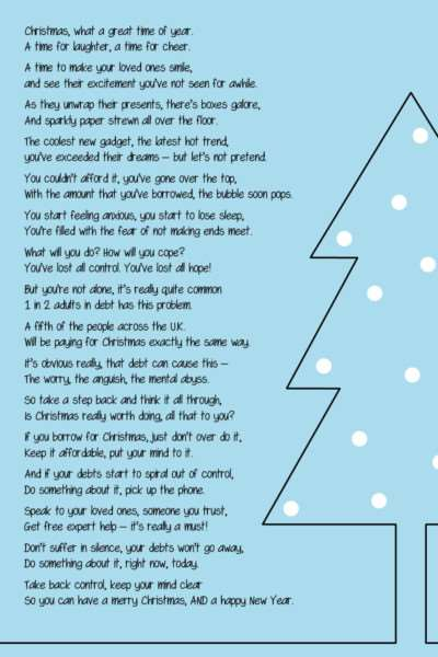 The Christmas poem that explains the pressures people put themselves under to be able to deliver the 'perfect Christmas'.